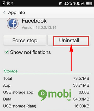 Unstall apps oppo