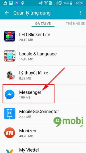 cach thoat tai khoan facebook messenger tren samsung