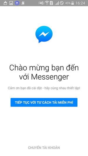 thoat tai khoan facebook messenger