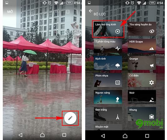 cach lam mo anh tren android