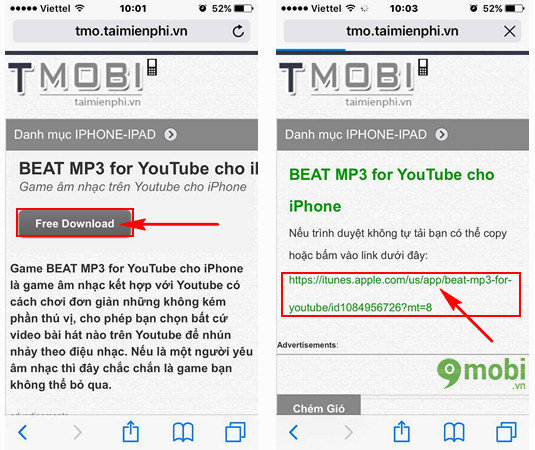 beat mp3 for youtube cho iPhone