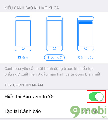 cach an tin nhan tren iphone 7