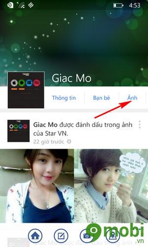 đổi avatar facebook trên Windows Phone