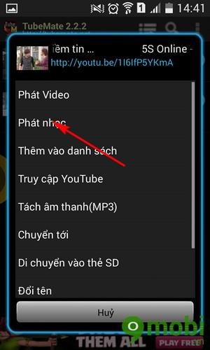 cách nghe nhạc trong video