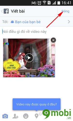 cách đăng video lên facebook bằng điện thoại android