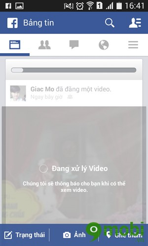 tai video len facebook tren HTC