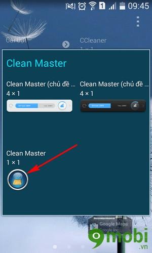 giải phóng ram bằng Clean Master