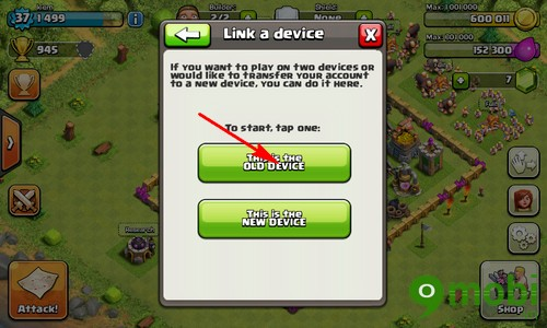 dong bo game Clash of Clans từ Android sang iPhone 6 plus, 6, ip 5s, 5, 4s, 4