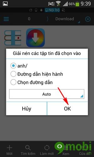 giải nén bằng ES File Explorer trên Android