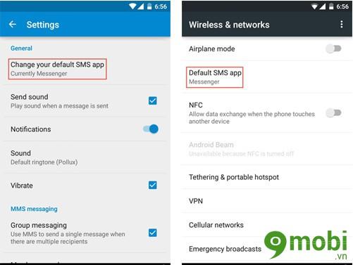 đổi ứng dụng nhắn tin cho Android 5.0