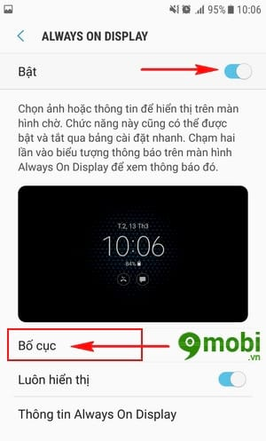 bat always on tren dien thoai samsung da nang cap android 7 0 5