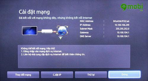 huong dan sua loi tivi khong ket noi mang internet duoc 3