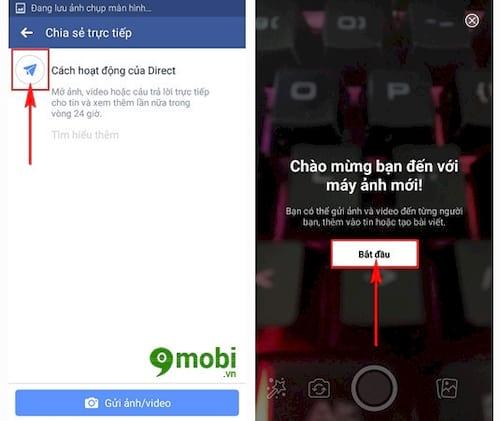 su dung facebook story tren dien thoai chen tin nhan tu huy sau 24h 3