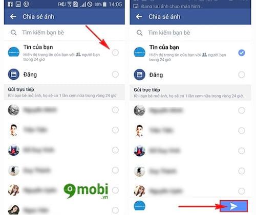 su dung facebook story tren dien thoai chen tin nhan tu huy sau 24h 6