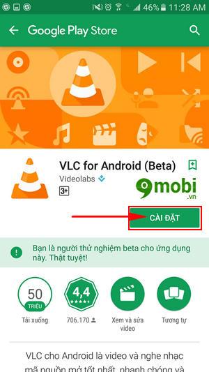 cach xem video 360 do tren dien thoai bang vlc 2 1 cho android 4