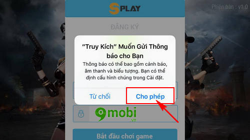 dang ky tao tai khoan truy kich mobile game ban sung mobile tren iphone  android 6