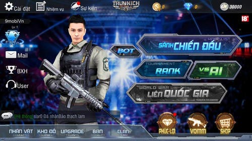 dang ky tao tai khoan truy kich mobile game ban sung mobile tren iphone android 9