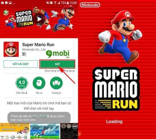 cach tai va choi game super mario run tren dien thoai android 4