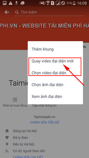 cach cai video dai dien facebook tren android 5