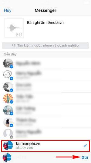 cach gui file ghi am tren iphone qua facebook email tin nhan 7