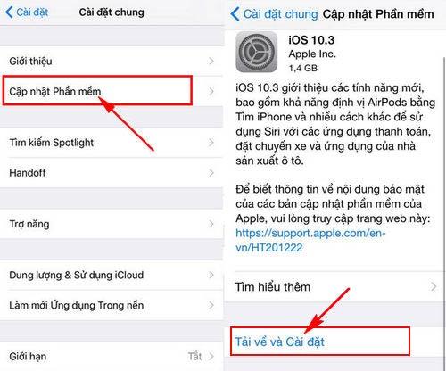cach cap nhat ios 10 3 cho iphone ipad bang itunes ota 3