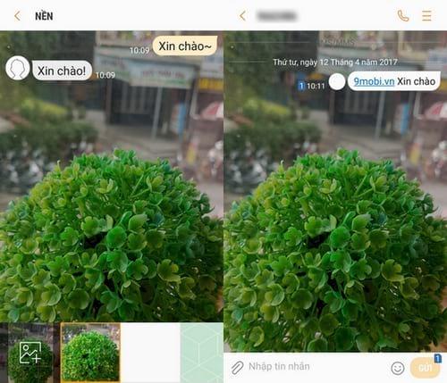 Thay đổi hình nền tin nhắn Samsung Galaxy S8, S8 Plus