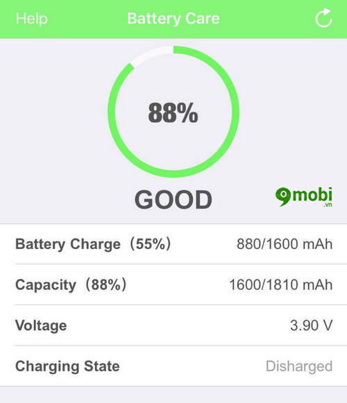 battery care ung dung kiem tra pin iphone