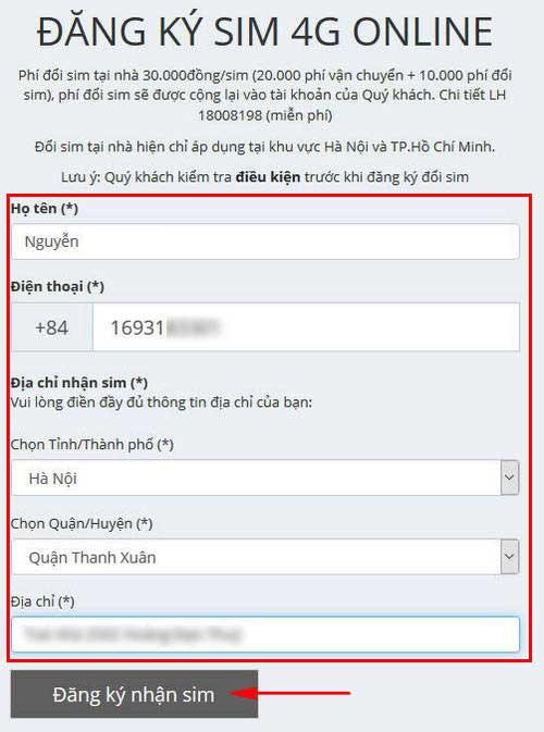 cach dang ky doi sim 4g viettel online 5