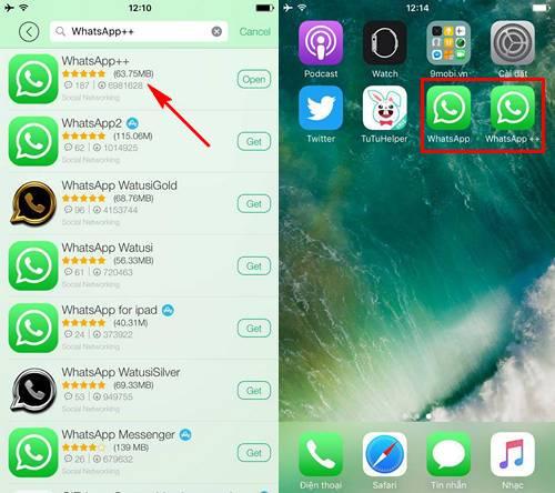 chay nhieu tai khoan whatsapp tren iphone ipad khong can jailbreak 11