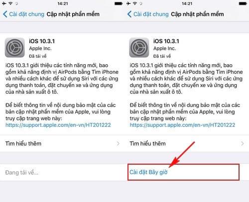 cach cap nhat ios 10 3 1 cho iphone ipad bang itunes ota 4