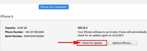 cach cap nhat ios 10 3 1 cho iphone ipad bang itunes ota 6