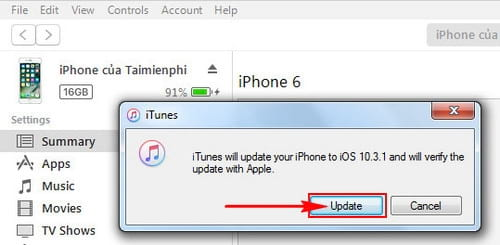 cach cap nhat ios 10 3 1 cho iphone ipad bang itunes ota 8