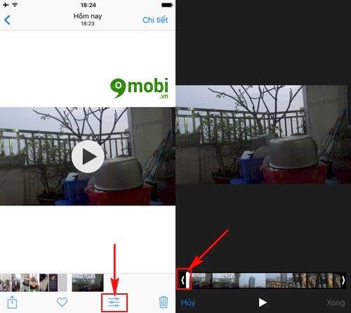 cach cat crop video tren iphone ipad 3