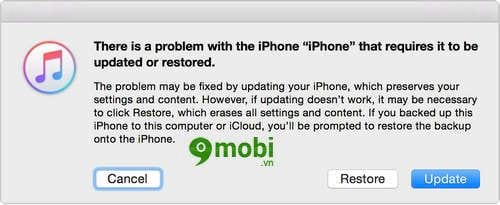 cach dua iphone ipad ve che do recovery mode de restore iphone 4