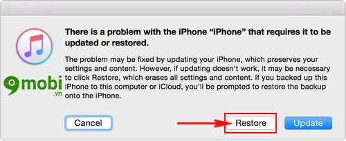 cach dua iphone ipad ve che do recovery mode de restore iphone 5