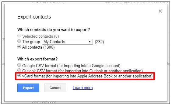 cach chuyen danh ba tu gmail sang icloud 3
