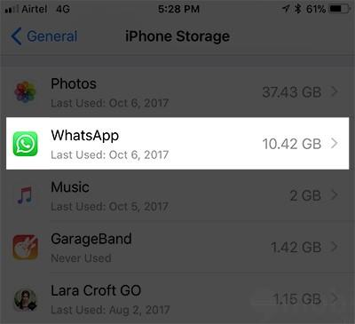cach xoa documents and data tren iphone de giai phong dung luong trong 4