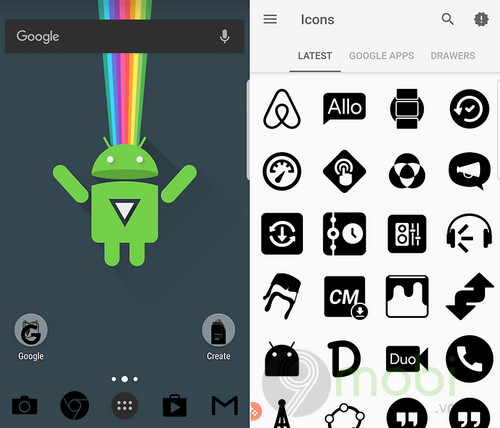 top icon pack dep nhat cho android 7