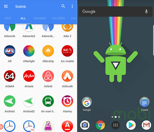 top icon pack dep nhat cho android 8
