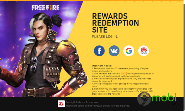code game free fire thang 12 2020
