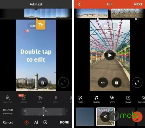 top app edit video tik tok tot nhat cho android va iphone