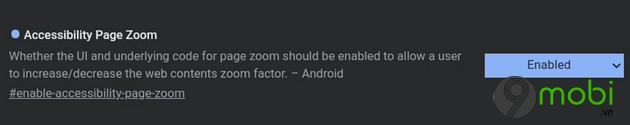 google chrome cho android them tinh nang page zoom moi