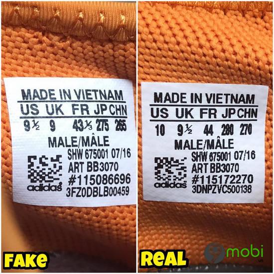 cach kiem tra giay adidas hang real va fake
