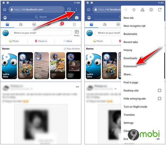 cach bat khien avatar facebook tren dien thoai
