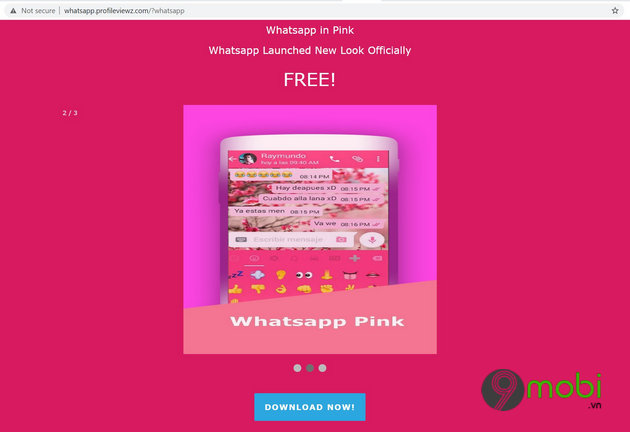 virus whatsapp pink chiem quyen kiem soat dien thoai