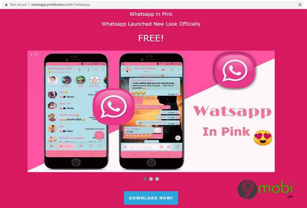 virus whatsapp pink moi cho phep hacker chiem quyen kiem soat dien thoai cua nguoi dung