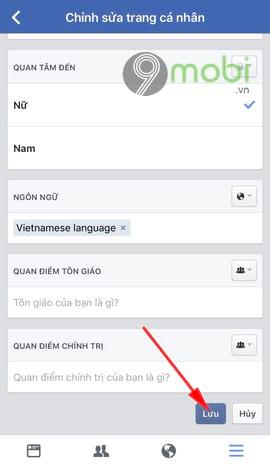 cach an nam sinh facebook tren dien thoai 8