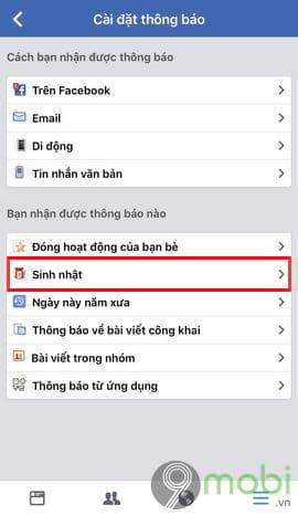 cach an thong bao sinh nhat facebook tren dien thoai 6