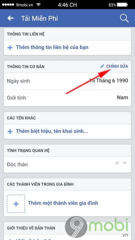 cach doi ngay sinh facebook tren dien thoai 6