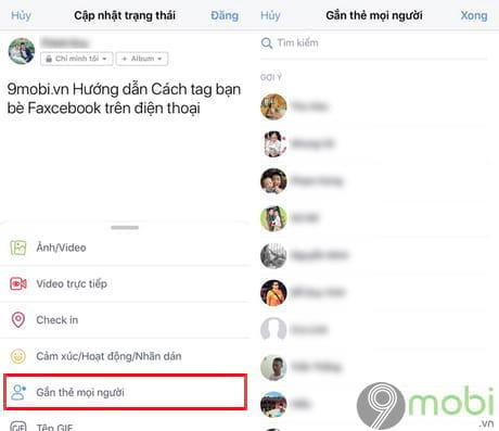 cach tag ban be facebook tren dien thoai 7